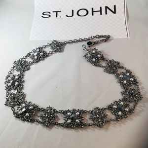 St John Belt Silver Chain Accented Adjustable